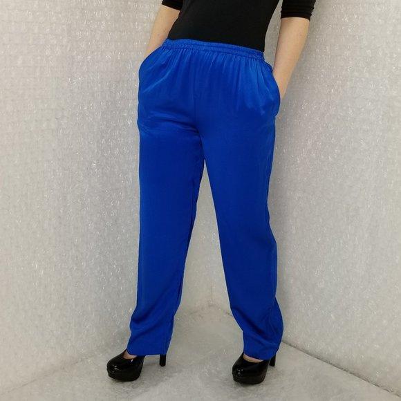Vintage 1990s blue silk lounge pants